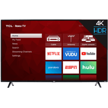 "TCL 55"" Class 4-Series 4K UHD HDR Roku Smart TV - 55S421"