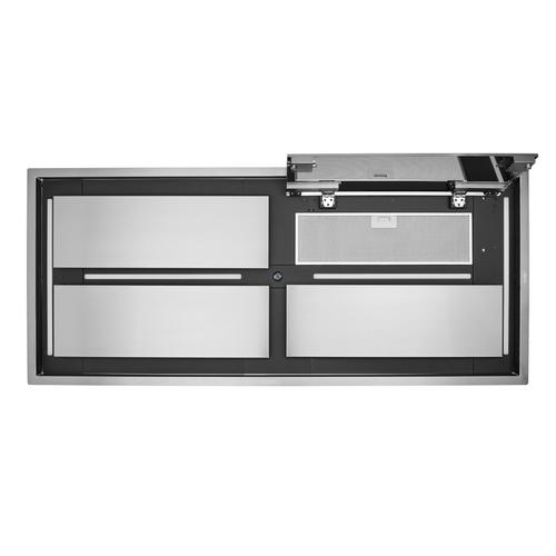 BEST Range Hoods - 63-inch Brushed Stainless Steel Ceiling Mounted Range Hood with LED Light. Choice of external blowers sold separately (CC34-63 Series)