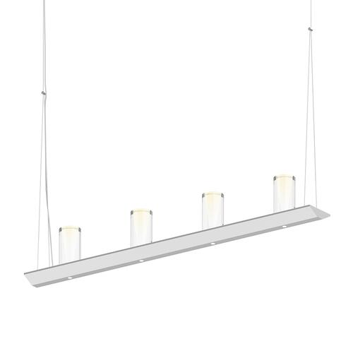 "Sonneman - A Way of Light - Votives LED Bar Pendant [Size=3', Color/Finish=Satin White, Shade Size=4"" height x 2"" diameter]"