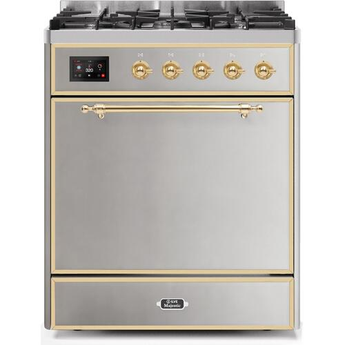 30 Inch Stainless Steel Dual Fuel Natural Gas Freestanding Range