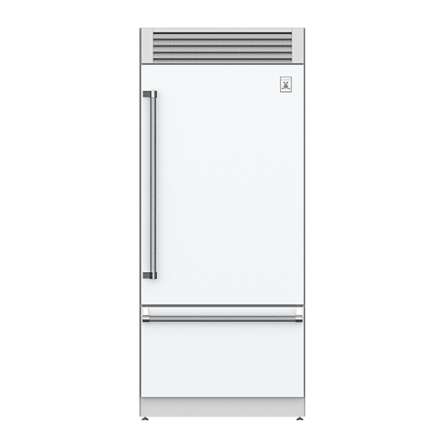 """36"""" Pro Style Bottom Mount, Top Compressor Refrigerator - KRP Series - Froth"""