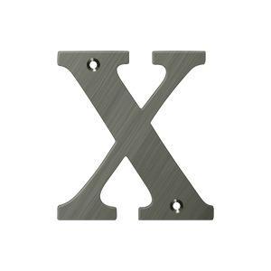 "Deltana - 4"" Residential Letter X - Antique Nickel"