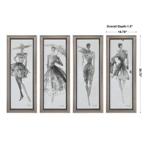 Product Image - Fashion Sketchbook Framed Prints, S/4