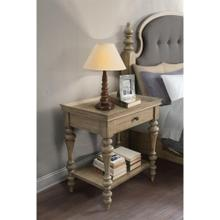 See Details - Corinne - Wood Top Leg Nightstand - Sun-drenched Acacia Finish