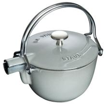 Staub Cast Iron 1-qt Round Tea Kettle, Graphite Grey