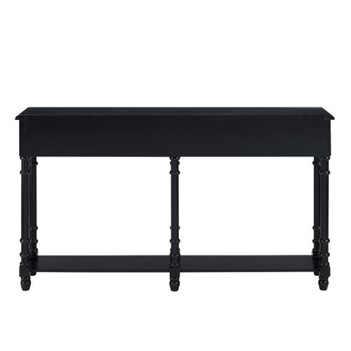 Two Drawer Tall Hall Console Table in Modern Black