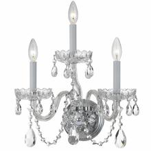 See Details - Traditional Crystal 3 Light Clear Crystal Chrome Sconce
