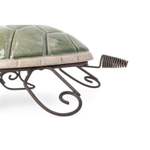 Harbor Ceramic and Metal Turtles - Set of 2