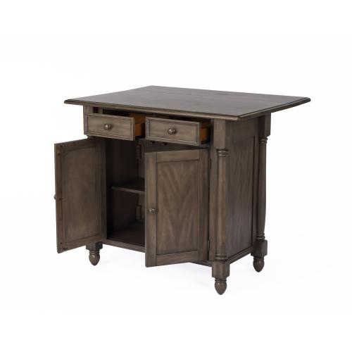 Kitchen Island with Drop Leaf - Shades of Gray