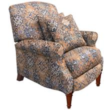 See Details - Navy Gold Abode Pushback Recliner with Matching Pillows