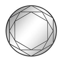 """Metal Frame 32"""" Wall Mirror, Black Wb"""