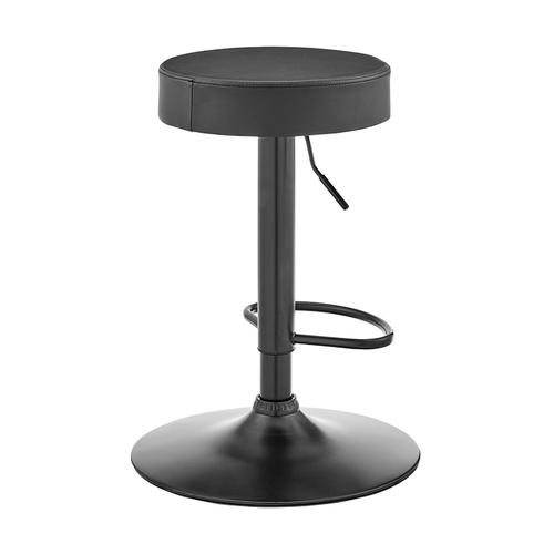 Dax Backless Gray Faux Leather Adjustable Bar Stool