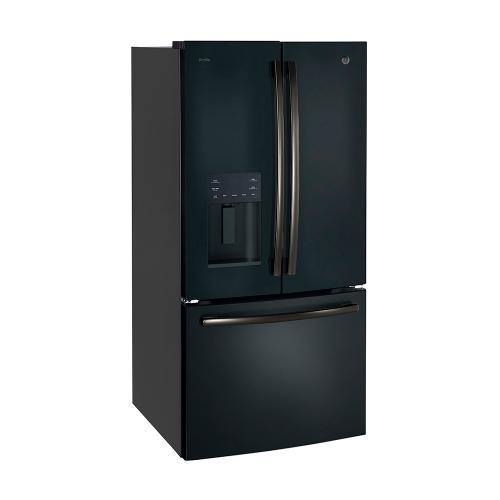 GE Profile™ Energy Star® 17.5 Cu. Ft. French-Door Refrigerator Black Slate - PYE18HEMKDS