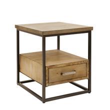 """Wood / Metal 23"""" Side Table W/drawer, Brown"""