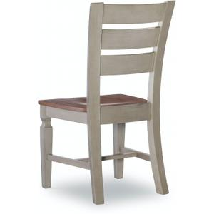 Laddertback Chair in Hickory & Stone