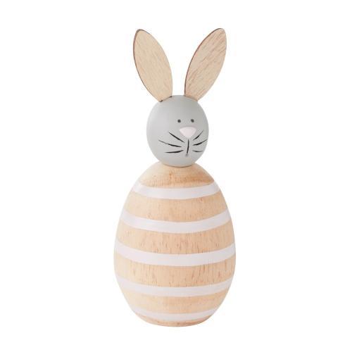 """2.5""""x 6.25"""" Pink Sweetie Bunny Figurine (Stripes Option)"""