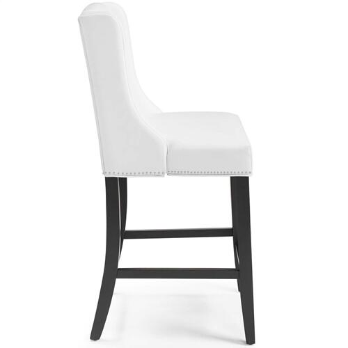 Baron Faux Leather Counter Stool in White