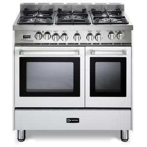 "White 36"" Dual Fuel Double Oven Range - 'N' Series"