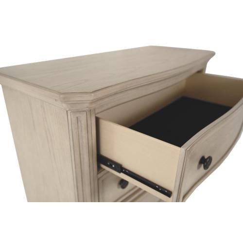 Demarlos Chest Parchment White