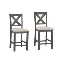 Sandpiper Grey Upholstered Barstools