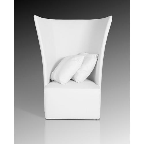 Divani Casa Bastia Modern White Leatherette Leisure Chair