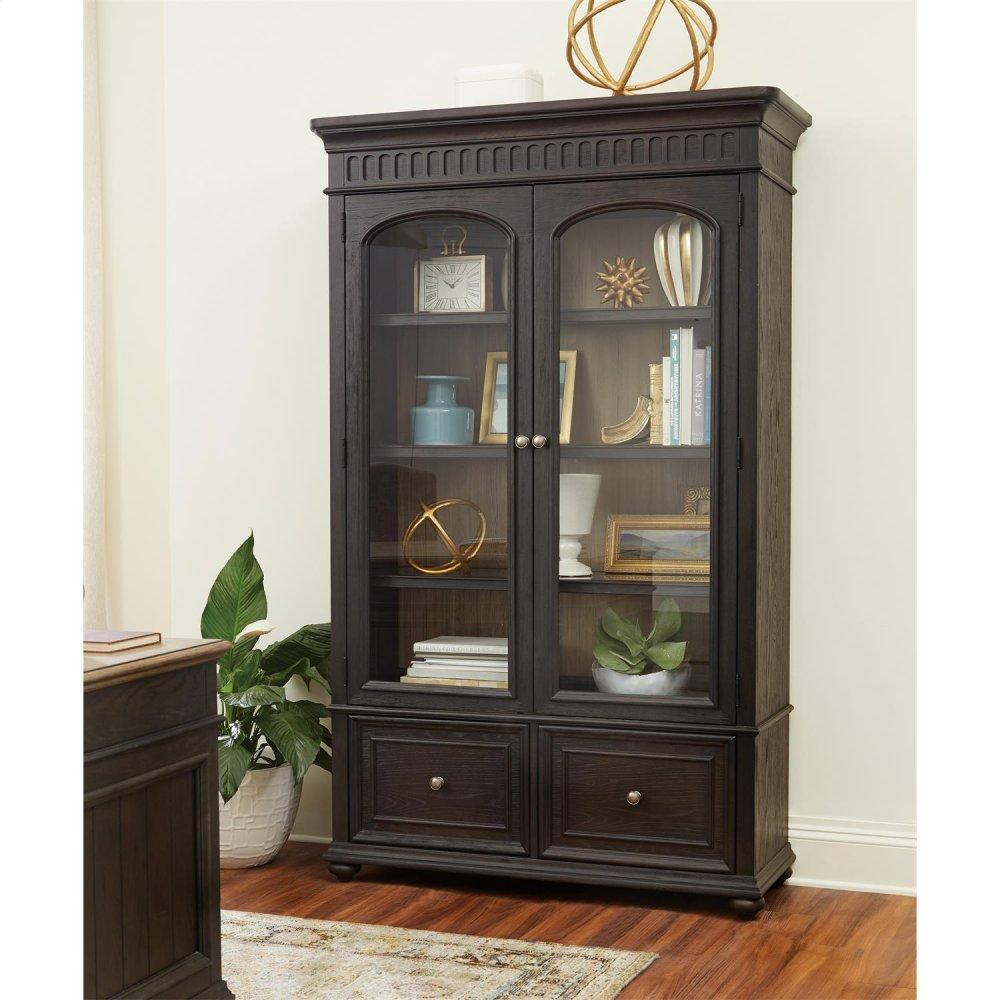See Details - Regency - Bookcase File - Antique Oak/matte Black Finish