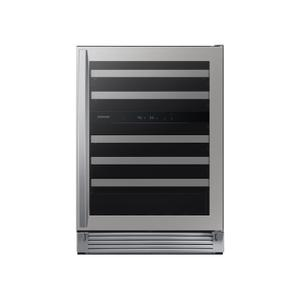 51-Bottle Capacity Wine Cooler in Stainless Steel -