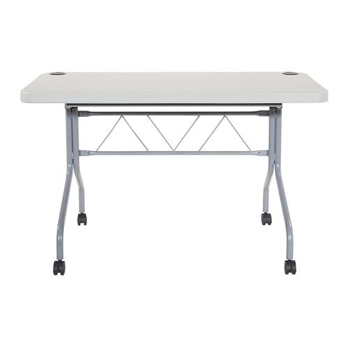 Office Star - 4' Resin Multi Purpose Flip Table With Locking Casters