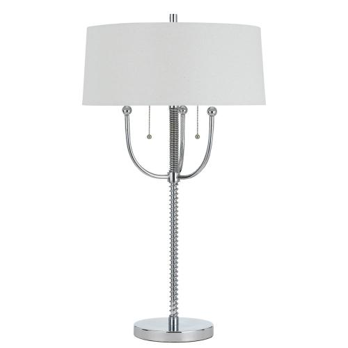 60W X 2 Lesinametal Floor Lamp With Linen Shade