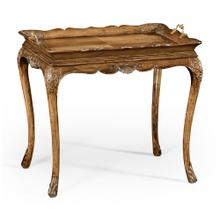 Carved satinwood tray table