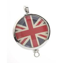 BTQ MJ Round Silver Prints Charming Locket