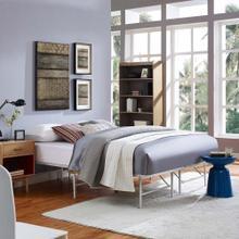 Horizon Full Stainless Steel Bed Frame in Gray