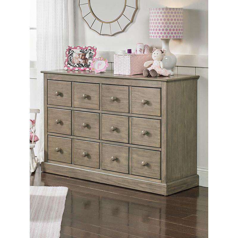 View Product - Fisher-Price Signature Double Dresser, Vintage Grey
