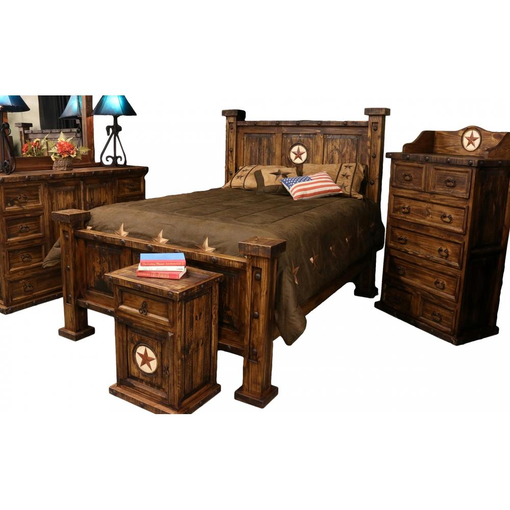 Laredo King Oasis Bed w/ Marble Star