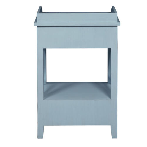 Two Drawer X Side End Table in Sky Blue