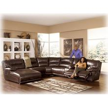 SECTIONAL W/ PRESS BACK CHAISE