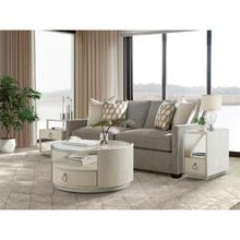 See Details - Maisie - Round Coffee Table - Champagne Finish
