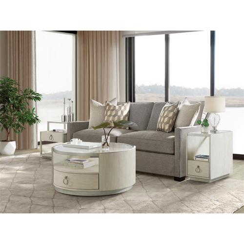 Riverside - Maisie - Round Coffee Table - Champagne Finish