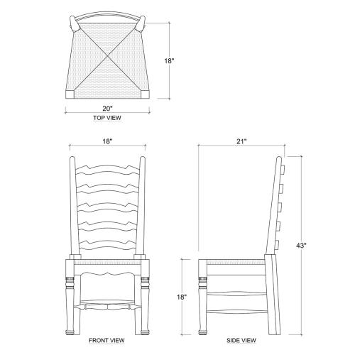 English Ladder-Back Dining Chair