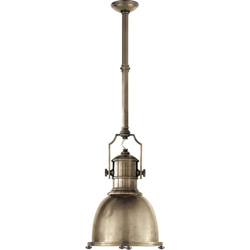 Visual Comfort CHC5133AN-AN E. F. Chapman Country Industrial 1 Light 14 inch Antique Nickel Pendant Ceiling Light