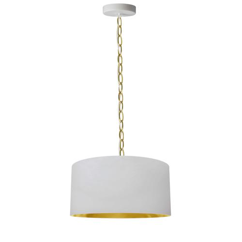 Product Image - 1lt Braxton Small Pendant, Wht/gld Shade, Agb