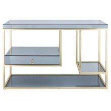 """See Details - Metal, 47"""" Console Table With Drawer, Gold"""