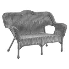Maui Camelback Resin Wicker/ Steel Outdoor Patio Loveseat - Weathered Gray