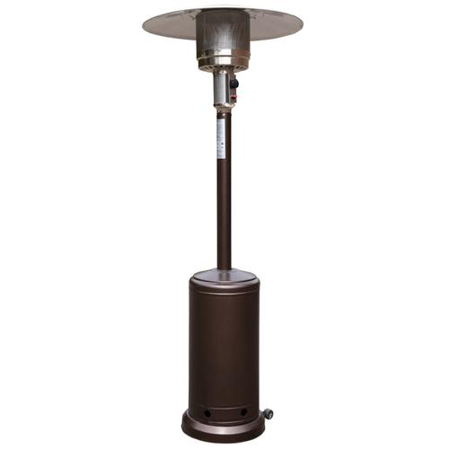 Flash Furniture - Patio Outdoor Heating-Bronze Stainless Steel 40,000 BTU Propane Heater with Wheels for Commercial & Residential Use-7.5 Feet Tall