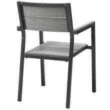 Maine Dining Outdoor Patio Armchair in Brown Gray