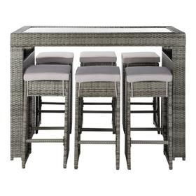 Horus Dining Set - Grey / Grey