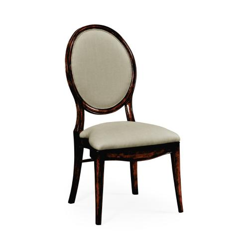 Spoon Back Upholstered Stacking Dining Chair