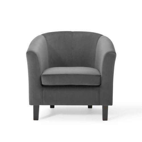 Modway - Prospect Performance Velvet Armchair in Charcoal