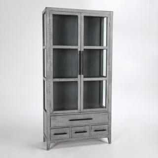 See Details - Simon Tall Cabinet Antique Blue