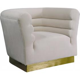 "Bellini Velvet Chair - 44"" W x 35"" D x 32"" H"